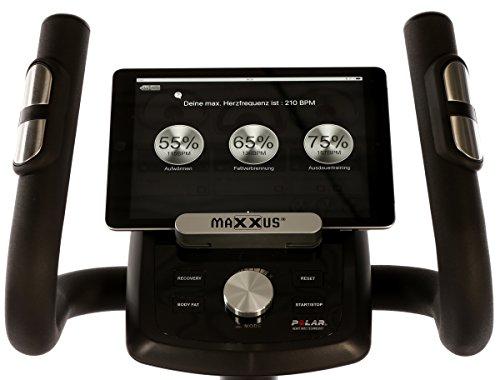 MAXXUS® CROSSTRAINER CX 5.1 – Ellipsentrainer und kostenlosem Versand. Elliptischer Bewegungsablauf, Trainingsprogramme, HRC-Programme, Watt-Programm, Transportrollen, elektr. gesteuerte Magnetbremse, Smartphone-Tablet-Halterung, ergonomische Laufbewegung. - 8