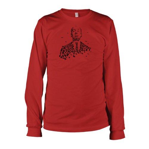 TEXLAB - Hitchcock Vögel - Langarm T-Shirt Rot