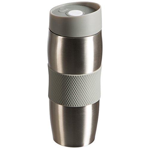 LEVIVO Vaso térmico, Acero Inoxidable, Gris, 19.5x5.5x5.5 cm
