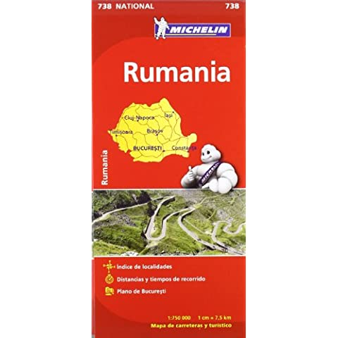 Mapa National Rumanía (Mapas National Michelin)