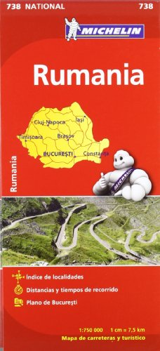 Mapa National Rumanía (Mapas National Michelin) por Vv.Aa