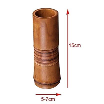 xiegons0 Bambú Jarrón Florero, Duradero Japonés Decoración Hogar Jarrón Hecho a Mano Manualidades con Establo Base para Hogar y Oficina