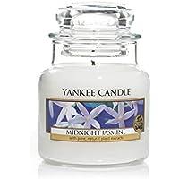 Yankee Candle Glaskerze, Midnight Jasmine, klein, weiß