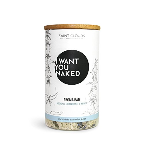 I Want You Naked Aroma de baño brennnessel y jengibre, 600 g