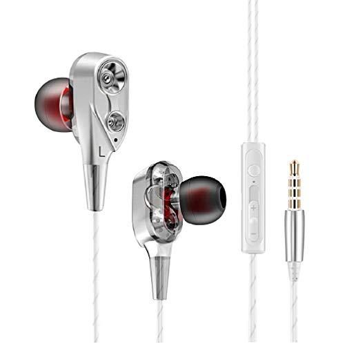 Auriculares Xiaomi Mi A2 Lite con microfono Dual Dynamic Drivers in-Ear Estereo Cascos Xiaomi Mi A2 Lite Auriculares con Cable Xiaomi Mi A2 Lite Auriculares microfono Xiaomi Mi A2 Lite INOX