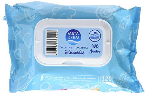 Mica Derm Toallitas Húmedas WC Junior - 120 Unidades