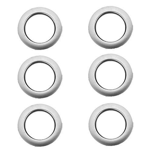 kotiger 6rund Kunststoff Vorhang Öse Ringe Silber für Home