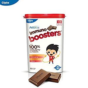 Cipla Activkids Multivitamin Chocobites For Kids' Nutrition- 240 g – (30 Counts)