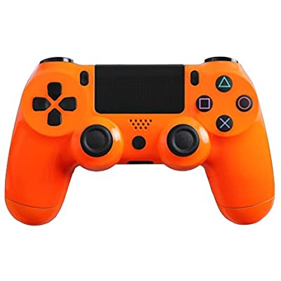 Glossy Orange Custom PS4 Controller