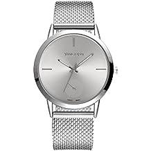 Coconano Relojes Mujer, Reloj de Malla de Malla de Alta Dureza de Vidrio Para Hombres