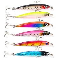 WEATLY Señuelos de Pesca Aparejos de Pesca Topwater Rubber Jigs Tackle Box Agua Salada Freshwater Bass & Bedding Bass Trout (Size : 6 Piece)