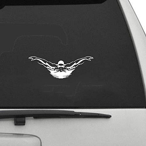 18,3 Cm x 6,1 Cm Schwimmer Schwimmen Pool Sport Auto Aufkleber Persönlichkeit Auto Styling Dekorative Accessoires