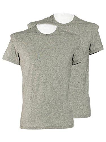 'Dolce & Gabbana Day by Day de Hombre de 2Pack Pack Cuello Redondo Camiseta de Stretch de Cotton (Gris) Gris 1 Mes