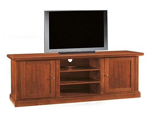 Porta tv in legno 2 porte +2 ripiani l160 p46 h56