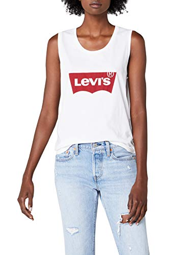 Levi's Damen Sport Tank Top The Muscle, Weiß (Festival White 0013), Small