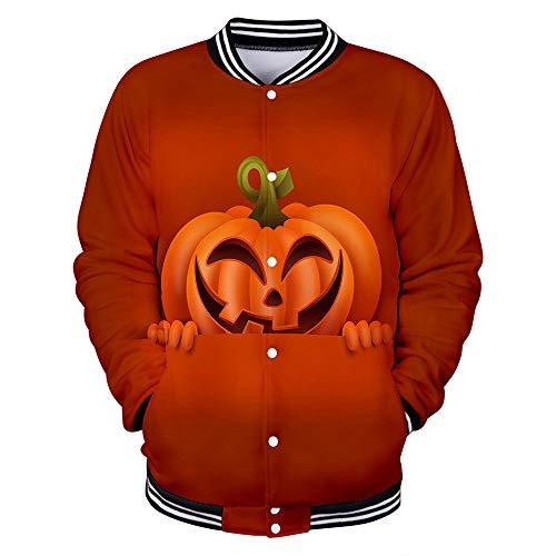 3D Unisex Felpe con Cappuccio Cerniera Tasche Felpa Stampato Pullover Camicetta da uomo casual spaventoso Halloween Lover Print Party manica lunga cappotto Realized Digital (XXXXL.Giallo)