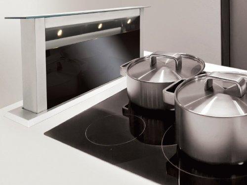 Silverline Apollo interne apit 614 S Premium Table Cagoule/60 cm/inox/verre noir