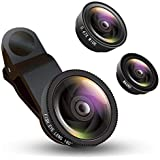 Shaarq 3 In 1 Clip-On Cell Phone Camera Lens Kit For IPhone 7 Plus, 8, 7, 6s, Samsung & Smartphone