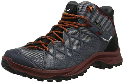Salewa MS WILD HIKER MID GTX, Herren Trekking- & Wanderstiefel, Schwarz (Black/biking Red 992), 42 EU (8 UK)