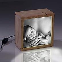 Lightbox personalizable – cubito de luz de 18x18cm. - regalo inolvidable