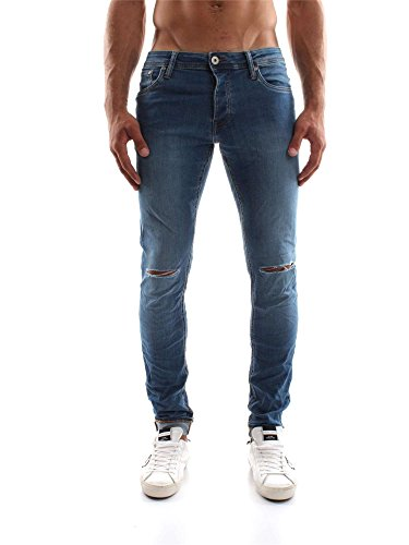 Jeans Uomo Jack & Jones 12113918 JJIGLENN Denim Autunno/Inverno Denim 29