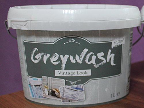 Kreidefarbe für Holz Vintage Shabby Chic Antiklook Greywash - Grau 1 Liter
