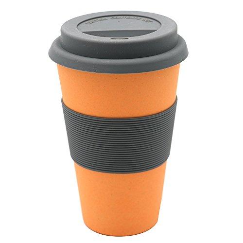 Magu 131 465 Coffee to Go Gobelet Fibre de Bambou/Bois/Fécule de Céréale Orange 28 x 28 x 8 cm