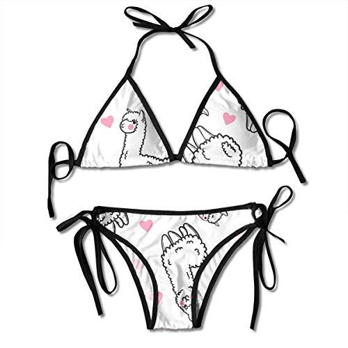 Nifdhkw Womens Bikini Alpaca Sexy Bathing Suit