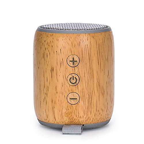 BAIYI Bluetooth Lautsprecher 3W High Power TF Card Small Audio Subwoofer Wooden Speaker 450mAh Battery Capacity,Gray - Surround-system-basis