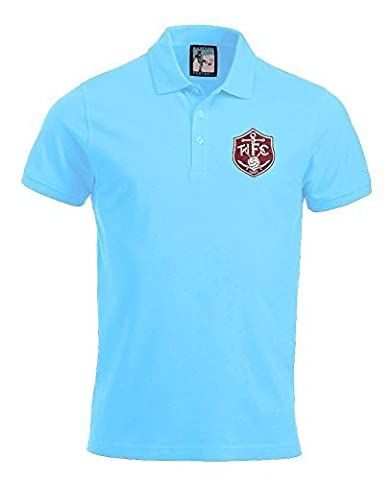 Thames Ironworks 1895 West Ham Football Polo New Sizes S-XXXL (Sky Blue, L)
