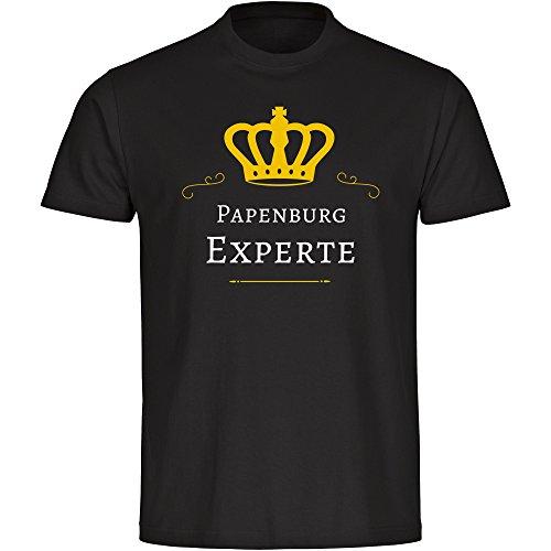 Multifanshop T-Shirt Papenburg Experte schwarz Herren Gr. S bis 5XL, Größe:XXXL
