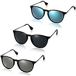 Aroncent Gafas de Sol Polarizada de Moda contra UV400 Sunglasses Lente Clásica Protección de Ojos para Viaje, Golf, Conducción, Ciclismo y Actividades Exteriores para Hombre Mujer Unisex ? 3PCS