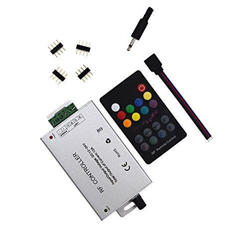 18 RF controlador de la música Key (12A) para 5050 3528 módulos de tira del LED a distancia RF 12 ~ 24V
