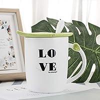 SWXBB Taza de cerámica, Taza, Cuchara, Desayuno de Oficina, Taza de café