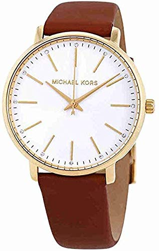 Michael Kors Women's Analogue Quartz Watch with Leather Strap MK2740