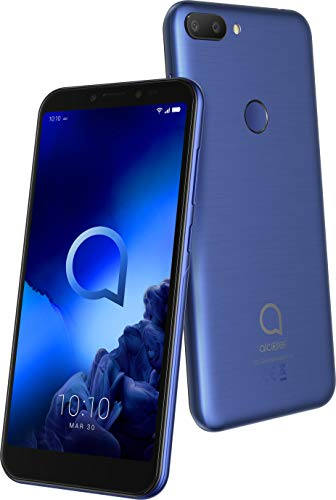 Alcatel 1S 2019 5024D Smartphone (13,97 cm (5,5 Zoll) HD+ IPS Display, Dual-SIM, 32 GB Speicher, 3 GB RAM, Android 9.0) Blau