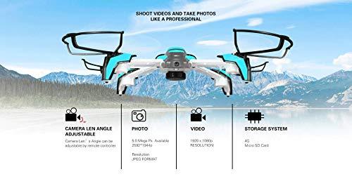 Walfront RC Quadcopter Höhenlage-Funktion Ein Schlüssel Return Remote Control Headless Mode Helicopter(blau)