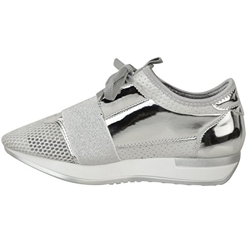 Sneakers grigie per donna Fashion thirsty