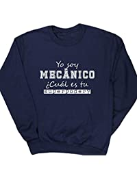 HippoWarehouse Yo Soy Mecánico, ¿Cuál es tu Superpoder? jersey sudadera suéter derportiva unisex