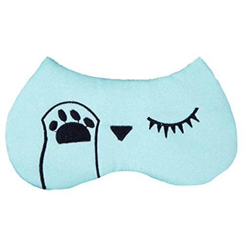 Schlafmaske Schlafenaugen-Abdeckung Super-Smooth Augenmaske für Reise, Grün Fluoreszierend