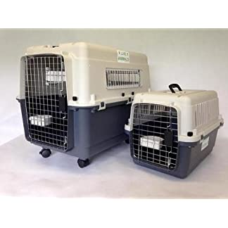 """L80 Luxx airline IATA approved pet carrier for flight medium 32"""" with wheels 7"""
