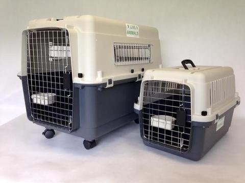 """L80 Luxx airline IATA approved pet carrier for flight medium 32"""" with wheels 1"""