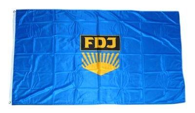 Fahne / Flagge DDR FDJ NEU 90 x 150 cm