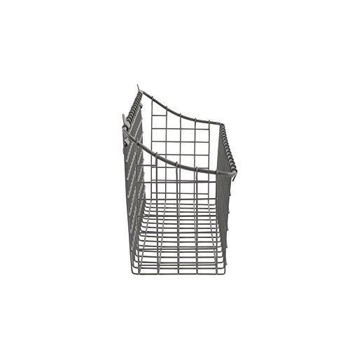 Spectrum Diversified Vintage Wall Mount Storage Basket Extra Large Industrial Gray