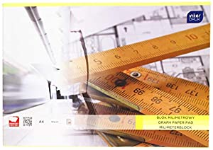 Interdruk BLMIA4 - Bloc de Papel de ingeniería, A4, 20 Hojas, Multicolor