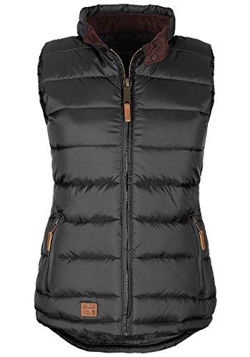BlendShe Camilla Damen Weste Steppweste Outdoor Weste Mit Stehkragen, Größe:L, Farbe:Phantom Grey (70010)