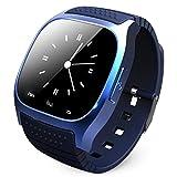 VERYMIN Smart Uhr 2019 Smartwatch M26 Bluetooth Smart Watch mit LED Music Player Schrittzähler für Android Smart Phone für Xiaomi für Meizu, Blau