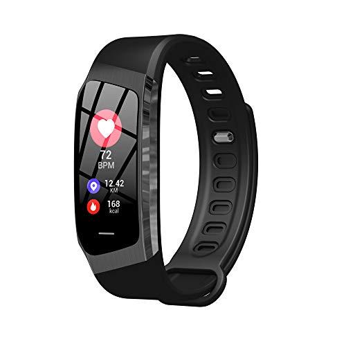 BZLine Bluetooth Smartwatch, Information Erinnert IP67 Class Wasserdichte Gesundheitsüberwachung Smart Watch für iOS Android Samsung Huawei Sony LG HTC Google Herren Damen Kinder Mädchen (Schwarz)