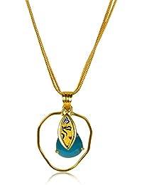 Miranika Gold Plated Pendant for Women (Blue)(C1D1ADG)