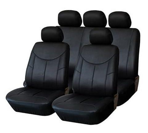 Premium Siège auto Housse déjà Housse cuir simili cuir noir pour voiture universel universel